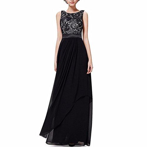 Ever Pretty Damen V-Ausschnitt Lange Chiffon Abendkleider ...