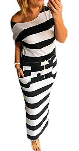 ISASSY Damen Sommerkleid Kleider Maxikleid Lang Kleid ...