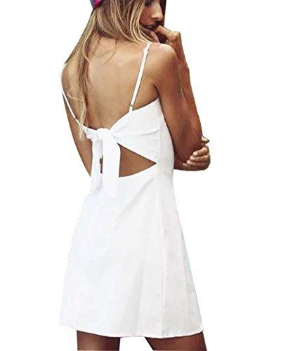 Damen Sommerkleid Vintage Ärmellos Spitzenkleid Ballkleid ...