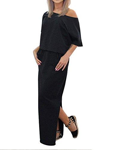 3269-KHA-18: KRISP Damen Leichtes Kleid Khaki, Gr.46 - ikimius