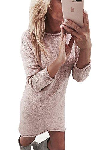 Yidarton Winter Damen pullover Sweater Strickkleid Warm ...