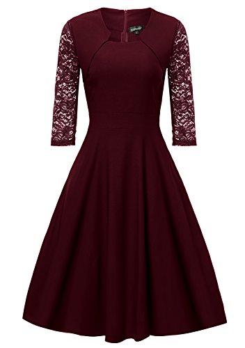 Gigileer Elegant 50s Rockabilly Damen Kleider ...