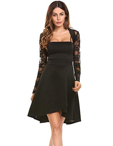 ZJCTUO Damen Kleid Abendkleid Schulterfreies Cocktailkleid ...
