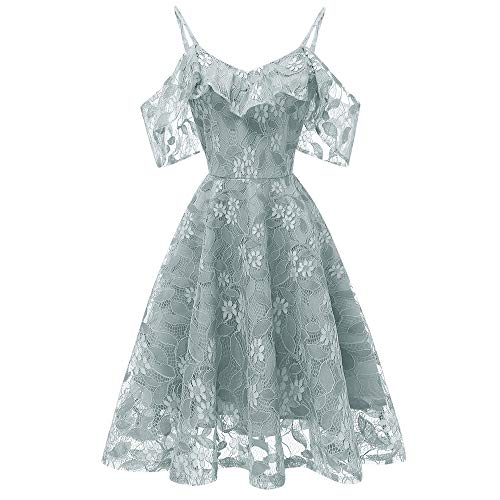 ReooLy Damen hülle Abendkleid Abendkleider Glitzer ...
