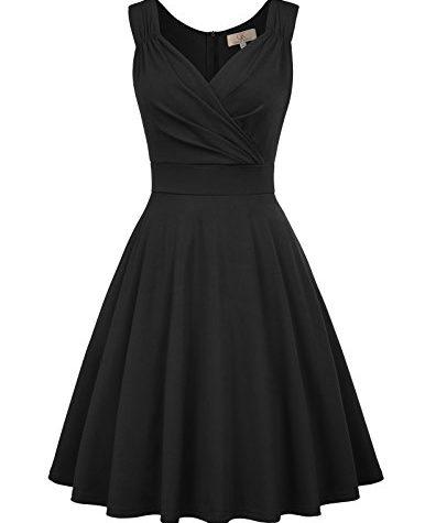 GRACE KARIN Retro Kleid Damen 50s Kleider Knielang v ...