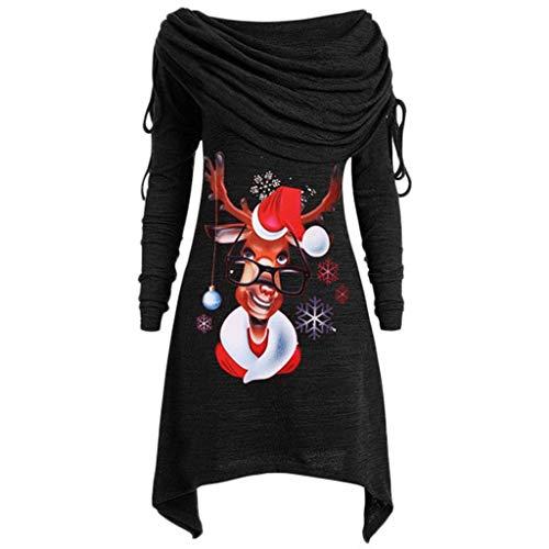 Damen Weihnachten Sweatshirt Langarmshirts Kleidung ...