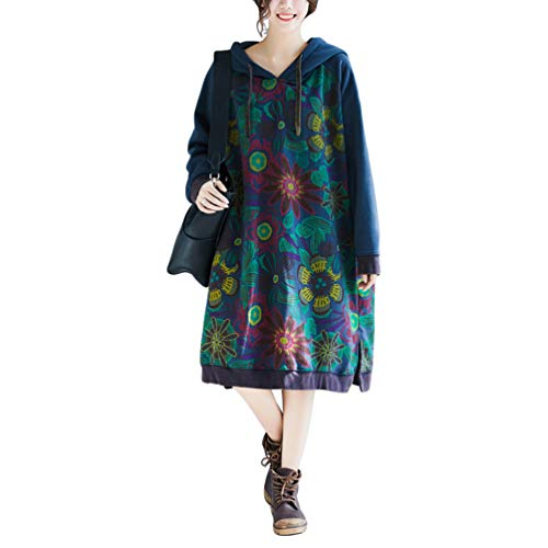 Damen Corduroy Kleider Herbst Winter Vintage Lang ...