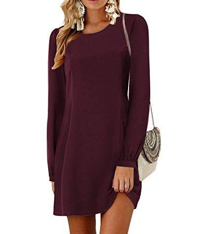 YOINS Damen Kleider Tshirt Kleid Winterkleid für Damen ...