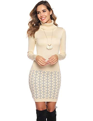 Itsmode Damen Pullover Kleid Warm Winterkleid Elegant ...
