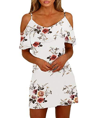 yoins sommerkleid damen sexy tshirt kleid schulterfrei