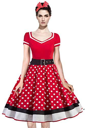 MisShow Damen elegant 50er Jahre Petticoat Kleider ...